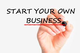 The image depicts starting your own business
